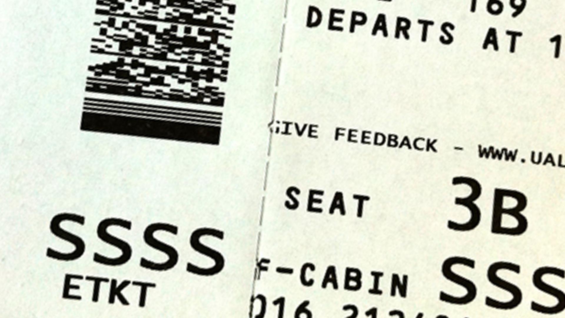 SSSS no cartão de embarque significa que você terá uma vistoria diferenciada antes de embarcar.