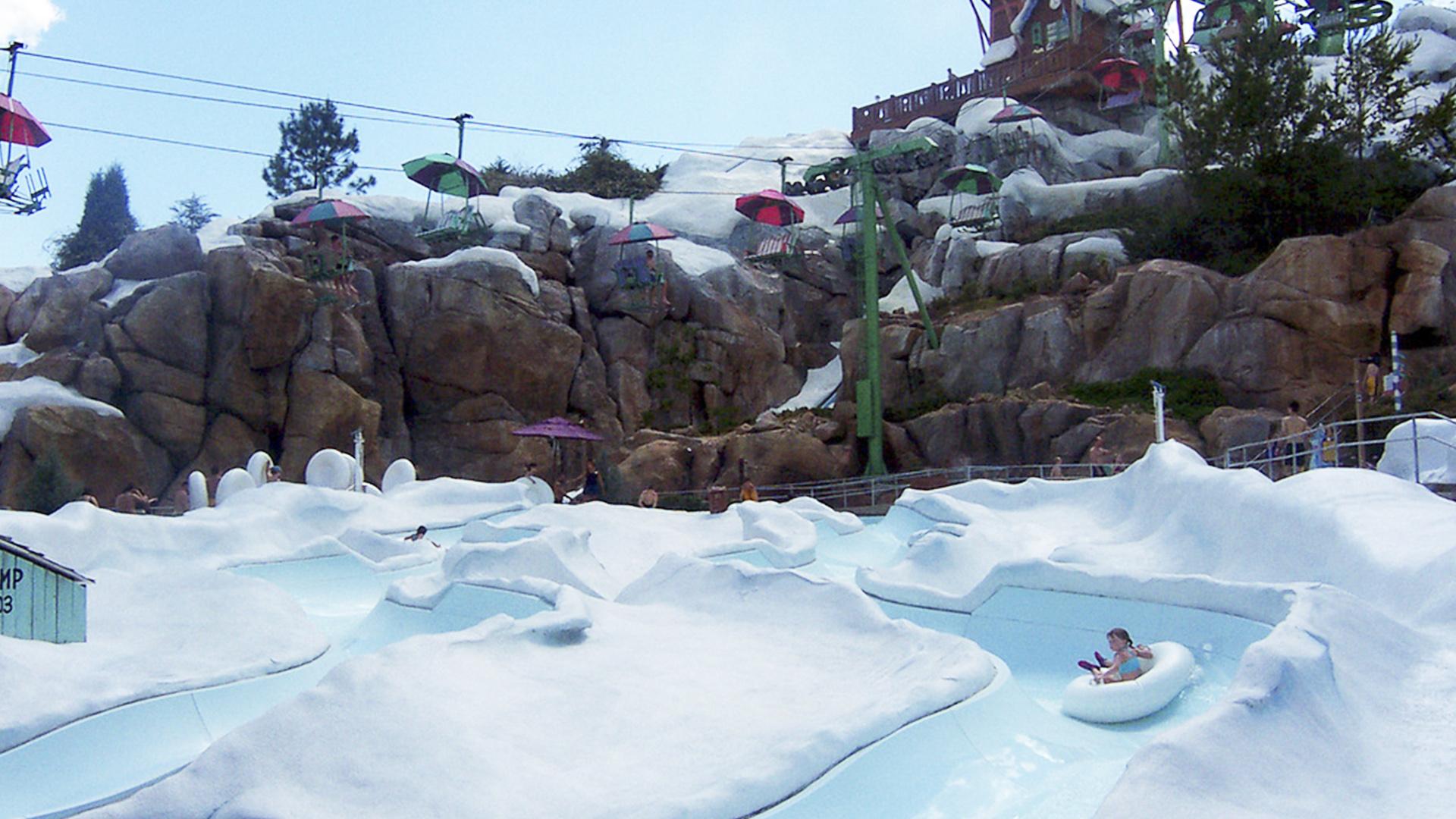 Disney's Blizzard Beach Water Park é para quem tem coragem e resistência ao frio.