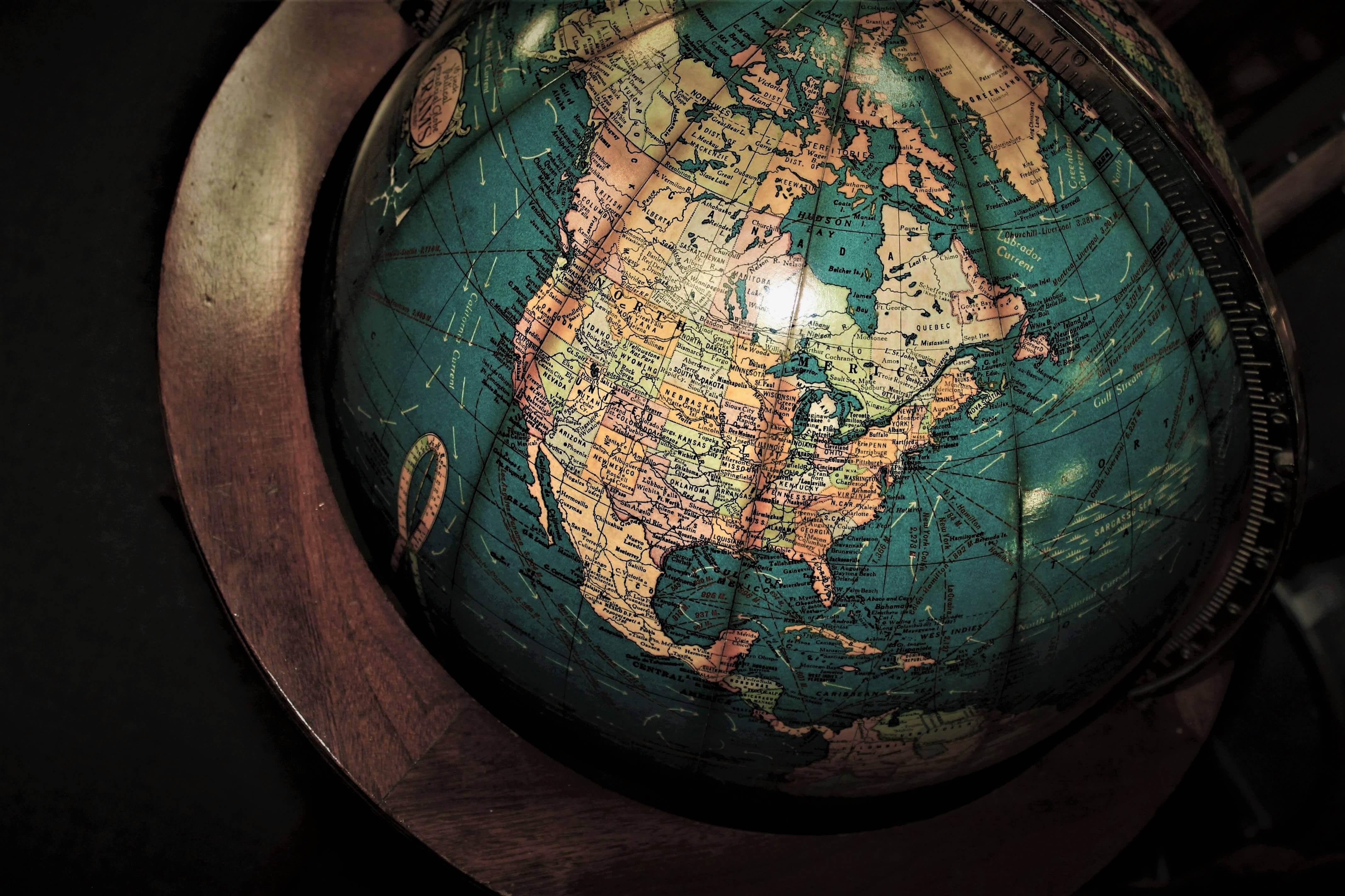 mapa estados unidos globo terrestre