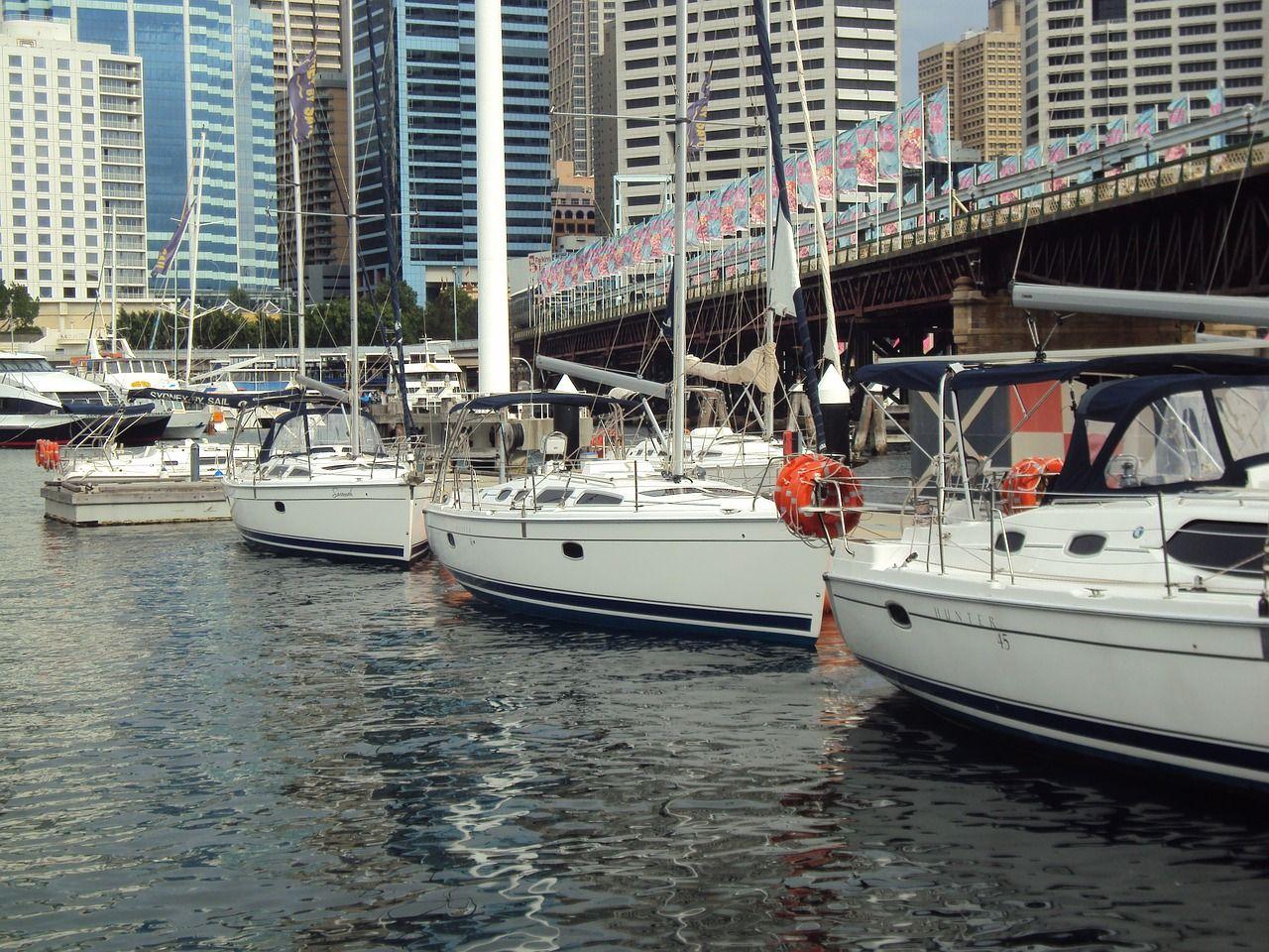 barcos no porto de Sydney