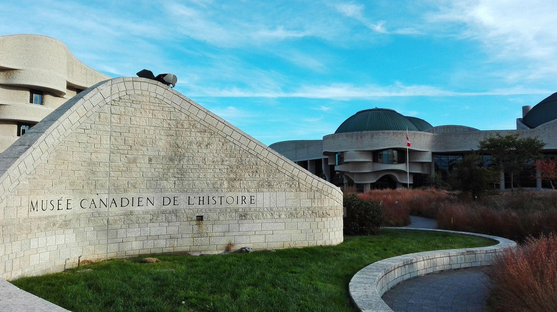 fachada do museu de história canadense