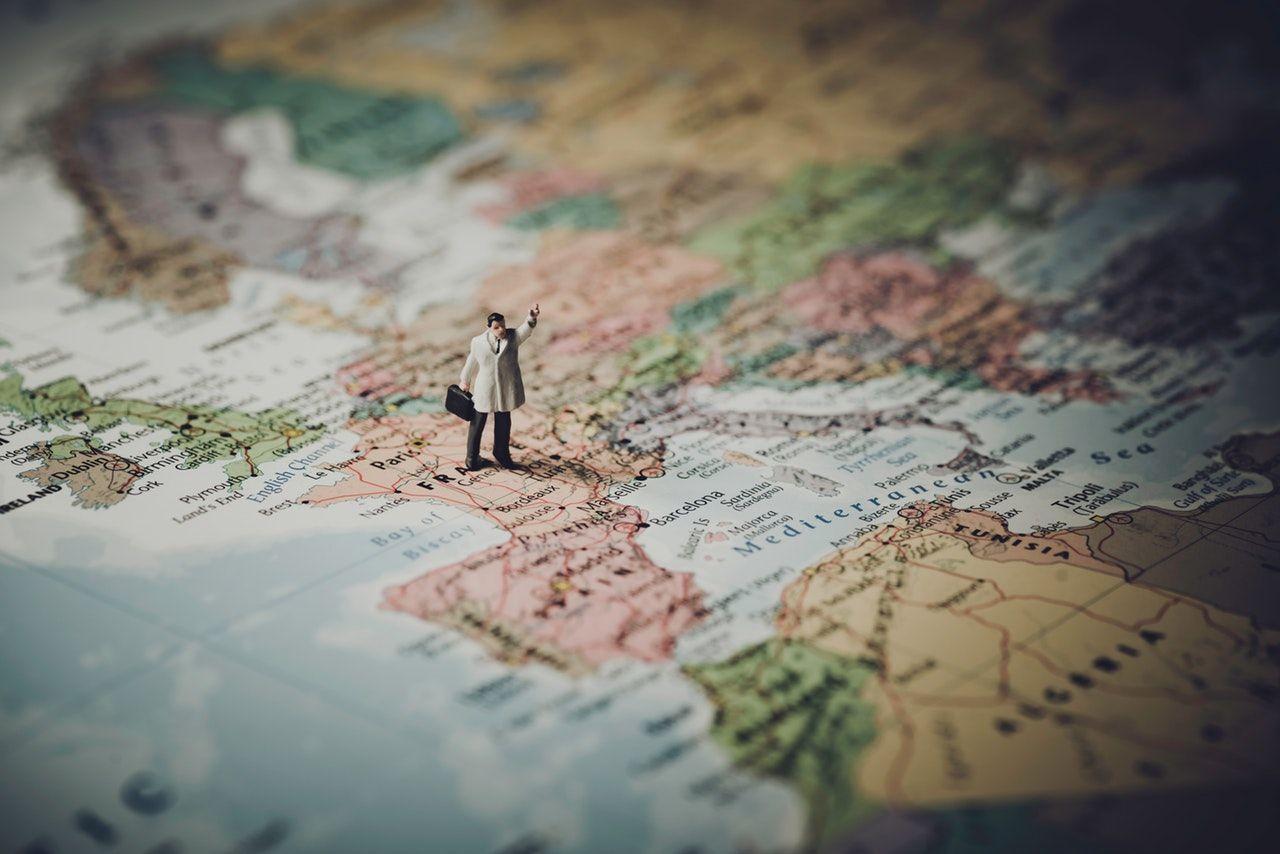 mapa planejamento viagem passaporte