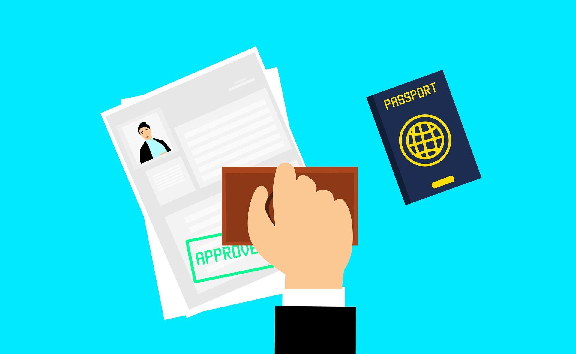 visto aprovado em passaporte