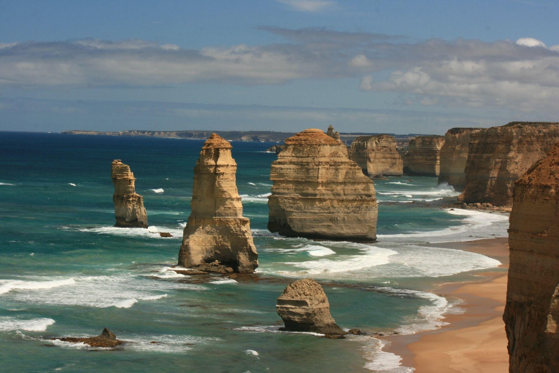 praia australiana Bells Beach