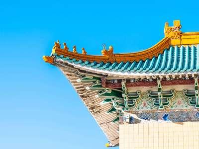 telhado de construção chinesa